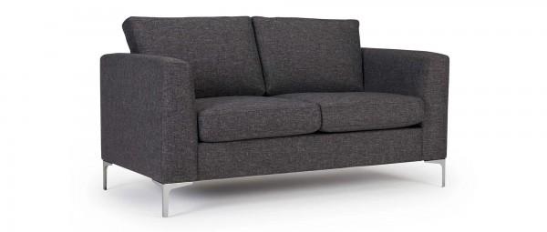 TRELLEBORG 2-Sitzer Designer Sofa mit Polsterarmlehnen und Chromfüßen