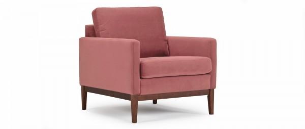 GÖTEBORG Designer Sessel mit Polsterarmlehnen und Holzfüßen