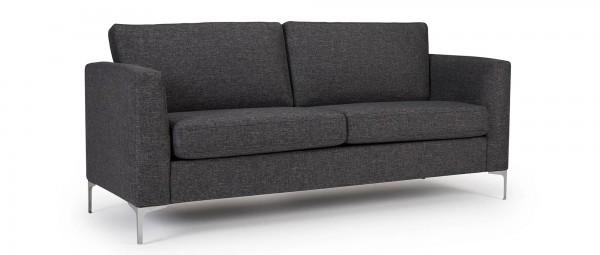 TRELLEBORG 2,5-Sitzer Designer Sofa mit Polsterarmlehnen und Metallfüßen