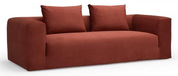 AALBORG 3-Sitzer Designer Sofa, Loungesofa mit breiten Armlehnen