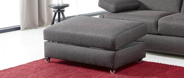 FLENSBURG DELUXE Hocker mit Rollen und Stauraum von sofaplus