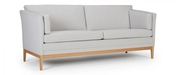 HELSINKI 3-Sitzer Designer Sofa mit Polsterarmlehnen und Seitenkissen