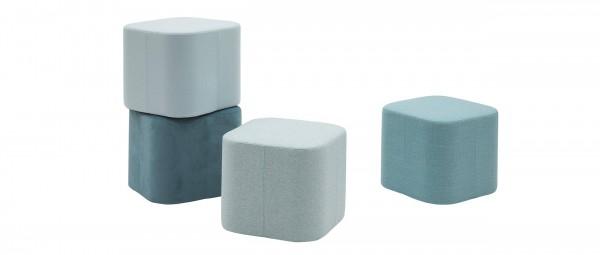 SOFTSQUARE Sitzwürfel von Softline - mit Stoffen von KVADRAT