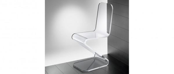 SYDNEY Freischwinger, Stuhl aus Plexiglas von Edelber