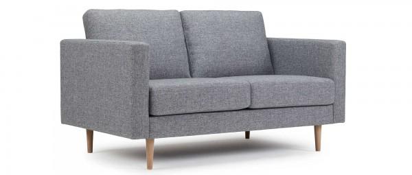 TRONDHEIM 2-Sitzer Designer Sofa mit Holz- oder Metallfüßen