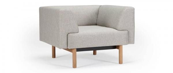 LUND Designer Sessel mit Polsterarmlehnen