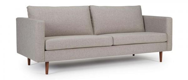HALMSTAD 3-Sitzer Designer Sofa mit Polsterarmlehnen und Holzfüßen