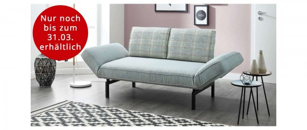 BERN DELUXE Schlafsofa mit klappbaren Seitenlehnen von sofaplus