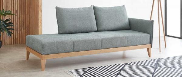 LINDAU DELUXE Einzelbett / Schlafsofa mit Lattenrost und Matratze von sofaplus