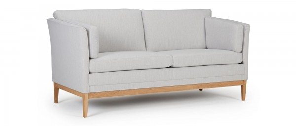 HELSINKI 2,5-Sitzer Designer Sofa mit Polsterarmlehnen und Seitenkissen
