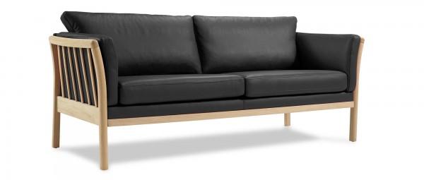 AARHUS 3-Sitzer Designer Sofa mit Holzarmlehnen
