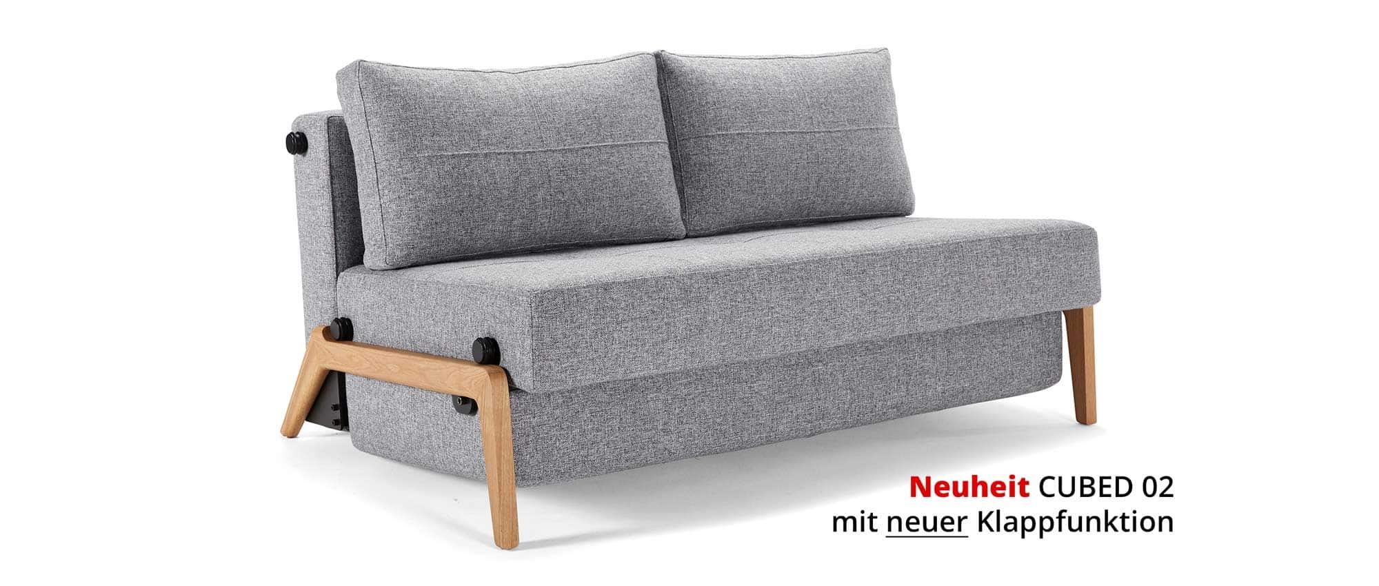 cubed 02 schlafsofa 140 von innovation. Black Bedroom Furniture Sets. Home Design Ideas