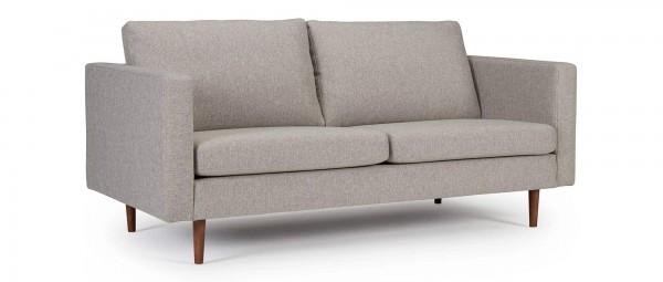 HALMSTAD 2,5-Sitzer Designer Sofa mit Polsterarmlehnen und Holzfüßen