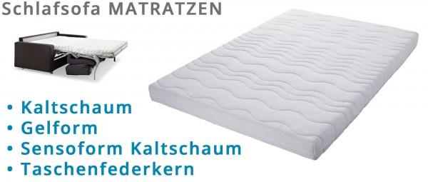 MATRATZEN für Schlafsofas - Kaltschaum, Sensoform, Gelform, Tonnentaschenfederkern