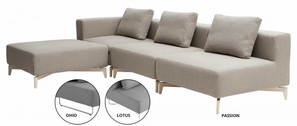 LOTUS, PASSION, OHIO Modulsofa von Softline - mit Stoffen von KVADRAT