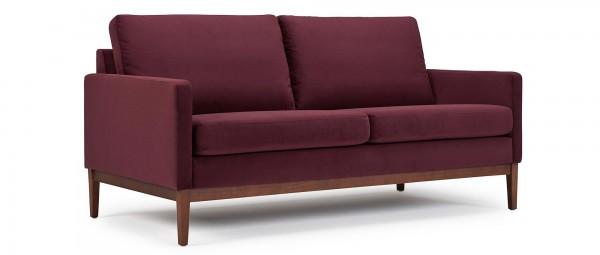 GÖTEBORG 2,5-Sitzer Designer Sofa mit Polsterarmlehnen und Holzfüßen