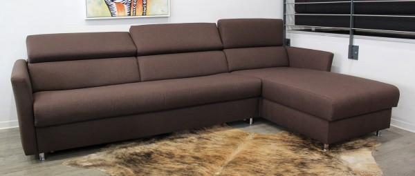 MÜNCHEN DELUXE Eckschlafsofa mit Lattenrost und Matratze von sofaplus