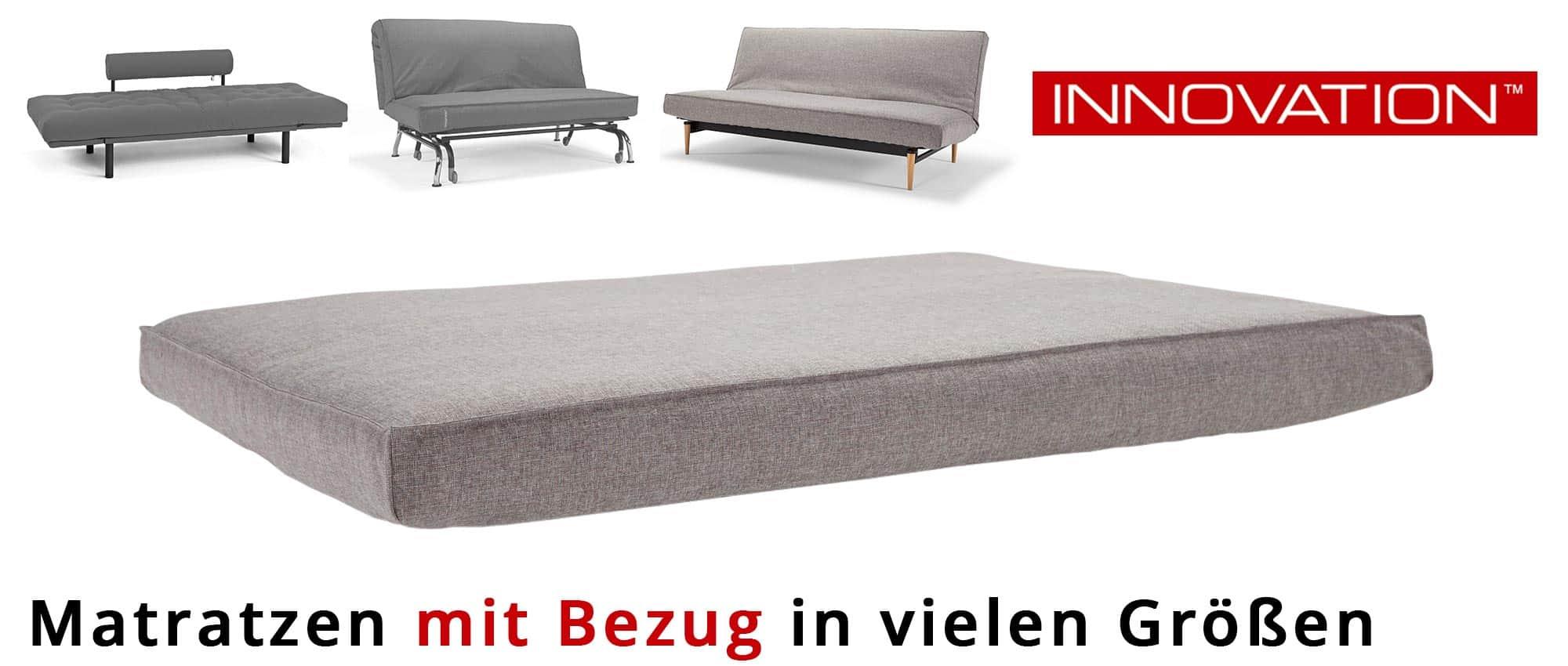 matratzen f r schlafsofas von innovation mit extra bezug. Black Bedroom Furniture Sets. Home Design Ideas