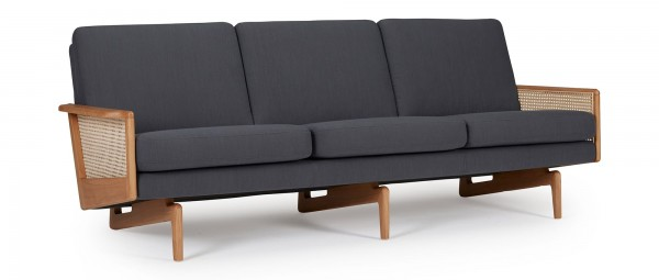 KOPENHAGEN OAK 3-Sitzer Designer Sofa mit Armlehnen aus Eichenholz