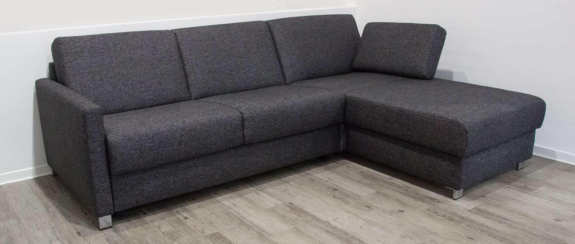 HAMBURG DELUXE Eckschlafsofa mit Lattenrost und Matratze von sofaplus