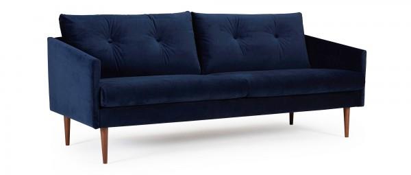 KARLSTAD 3-Sitzer Designer Sofa mit Polsterarmlehnen und versteppten Rückenkissen