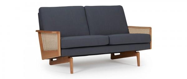 KOPENHAGEN OAK 2-Sitzer Designer Sofa mit Armlehnen aus Eichenholz