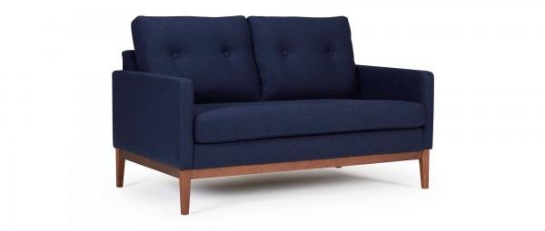 GÖTEBORG 2-Sitzer Designer Sofa mit Polsterarmlehnen und versteppten Rückenkissen