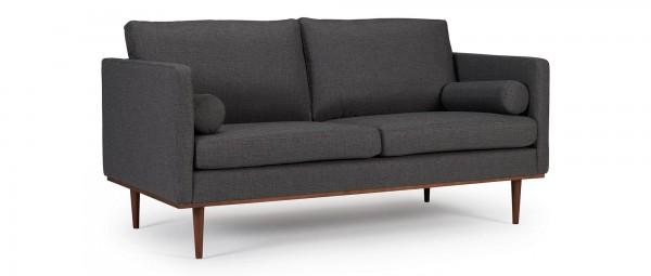 OSLO 2,5-Sitzer Designer Sofa mit Polsterarmlehnen und runden Seitenkissen