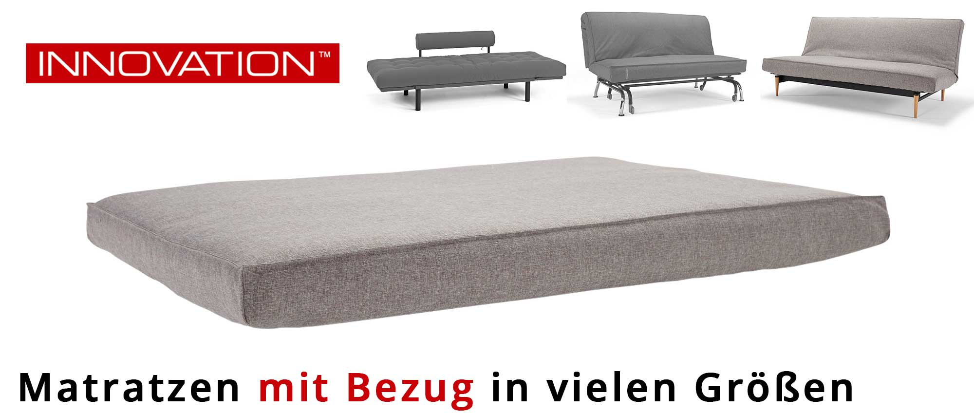 matratzen f r schlafsofas von innovation mit extra bezug. Black Bedroom Furniture Sets. Home Design Ideas