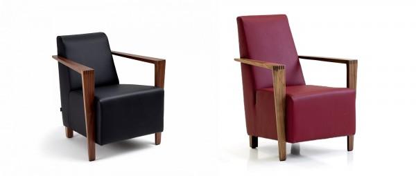 DRESDEN Sessel mit Holzarmlehnen von Franz Fertig - Die Collection
