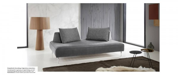 schlafsofa mit g stebettfunktion als l ngsschl fer und querschl fer. Black Bedroom Furniture Sets. Home Design Ideas