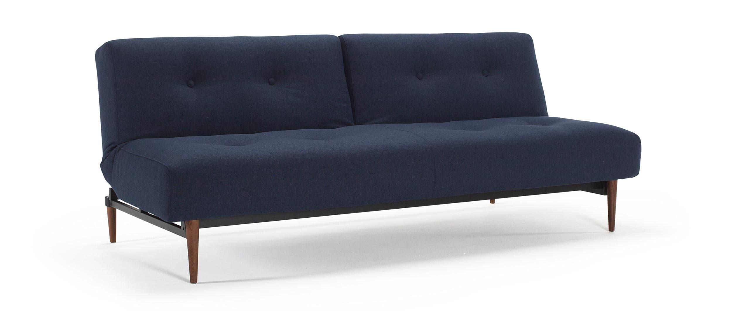 Sofa mit Schlaffunktion BURI von Innovation - Wood, Chrom, Frej ...