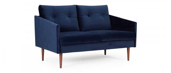 KARLSTAD 2-Sitzer Designer Sofa mit Polsterarmlehnen und versteppten Rückenkissen