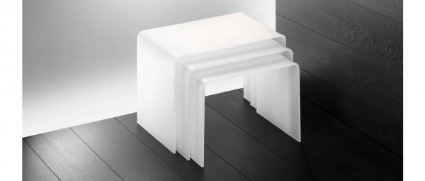 MÜNCHEN Beistelltisch aus Plexiglas von Edelber