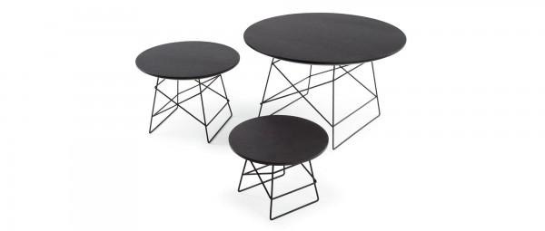 GRIDS Holztisch in Schwarz oder Eiche von Innovation
