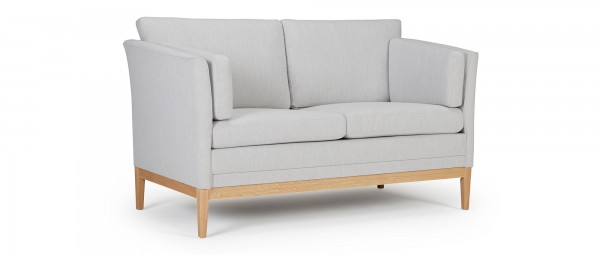 HELSINKI 2-Sitzer Designer Sofa mit Polsterarmlehnen und Seitenkissen