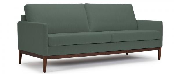 GÖTEBORG 3-Sitzer Designer Sofa mit Polsterarmlehnen und Holzfüßen