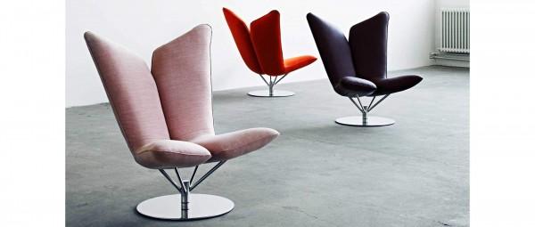 ANGEL Lounge Sessel von Softline - mit Stoffen von Kvadrat