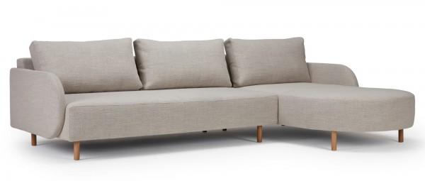 VARBERG 2-Sitzer L-Sofa mit Longchair und Polsterarmlehnen