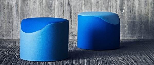 CORAL Sitzhocker von Softline - mit Stoffen von KVADRAT