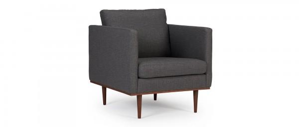 OSLO Designer Sessel mit Polsterarmlehnen und runden Seitenkissen