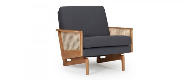 KOPENHAGEN OAK Designer Sessel mit Armlehnen aus Eichenholz
