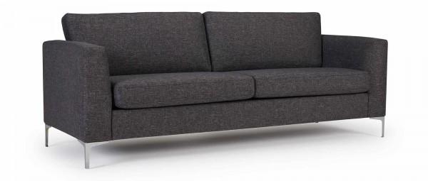 TRELLEBORG 3-Sitzer Designer Sofa mit Polsterarmlehnen und Chromfüßen