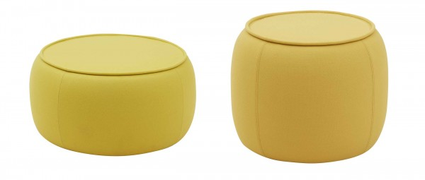 CONGA Sitzhocker, Couchtisch von Softline - mit Stoffen von KVADRAT