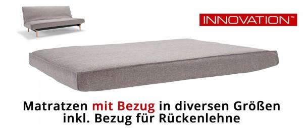 Matratzen von Innovation für Querschläfer - mit Extra Bezug inkl. Gestellbezug für Rückenlehne
