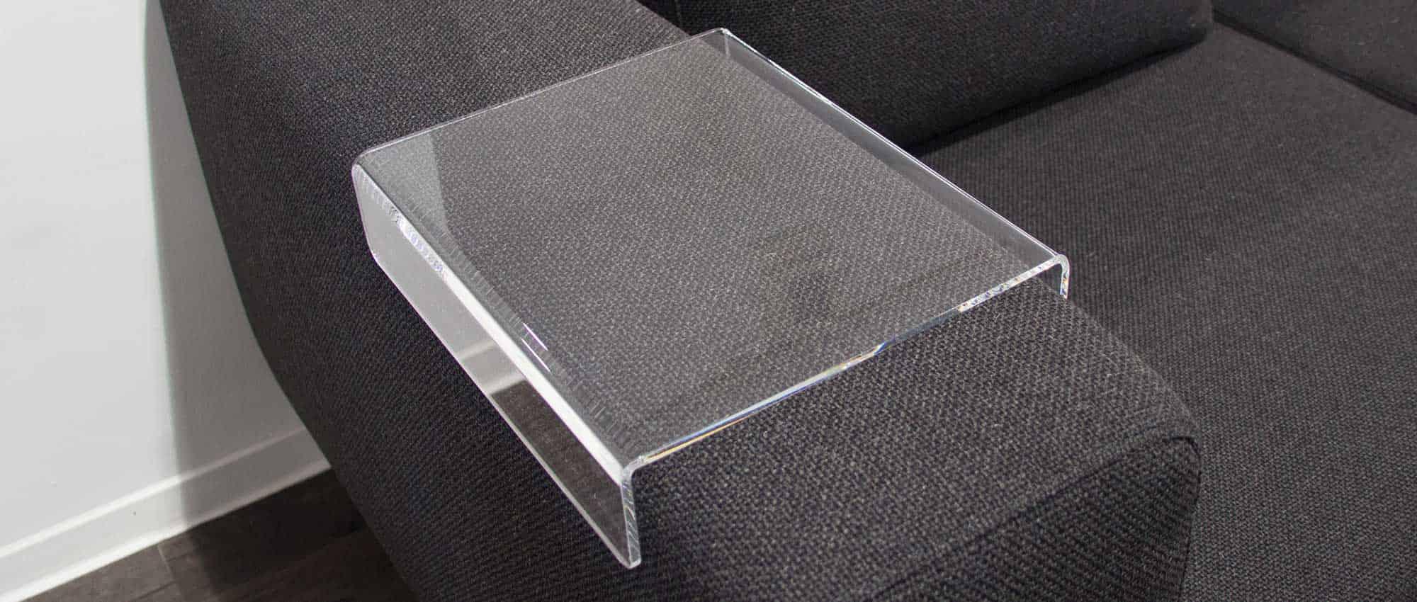 Tabletts Aus Plexiglas Acryl Als Ablageflache Fur Armlehnen Hocker