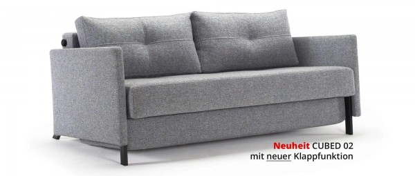 innovation schlafsofa cubed 02 mit und ohne armlehnen bett 90x200 cm 140x200 cm 160x200 cm. Black Bedroom Furniture Sets. Home Design Ideas