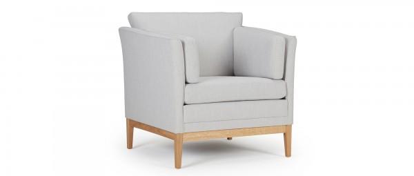 HELSINKI Designer Sessel mit Polsterarmlehnen und Seitenkissen