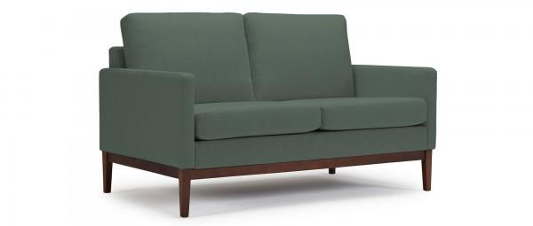 GÖTEBORG 2-Sitzer Designer Sofa mit Polsterarmlehnen und Holzfüßen