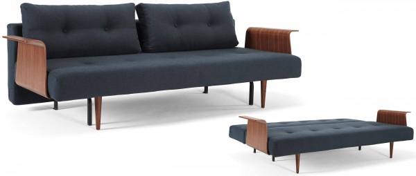RECAST PLUS Schlafsofa von Innovation mit dunklen Styletto Holzfüßen und optional Holzarmlehnen